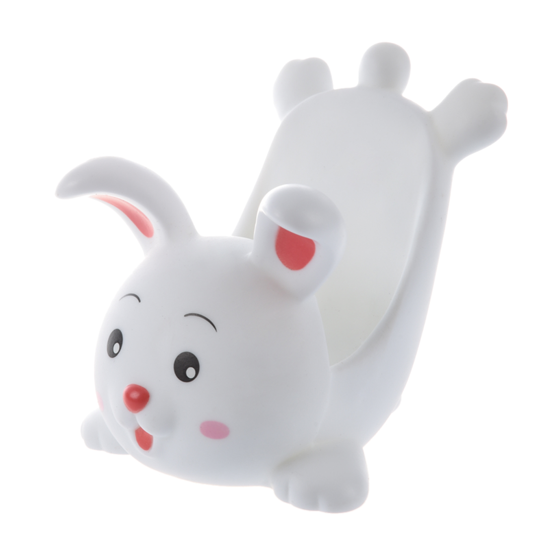 White Plastic Countertop Mobile Phone Rabbit Display Stand ...