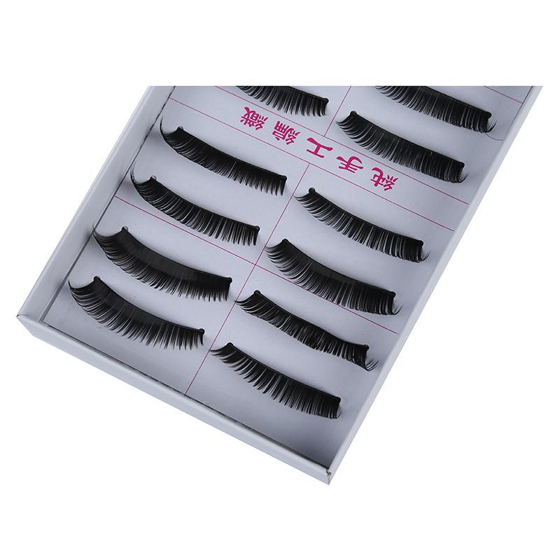 10 Pairs Soft False Eyelash Eyelashes Eye Lashes Makeup Long Thick Brand L8H8