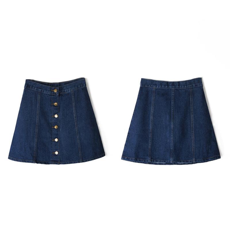 summer vintage skirts pencil a line high waist