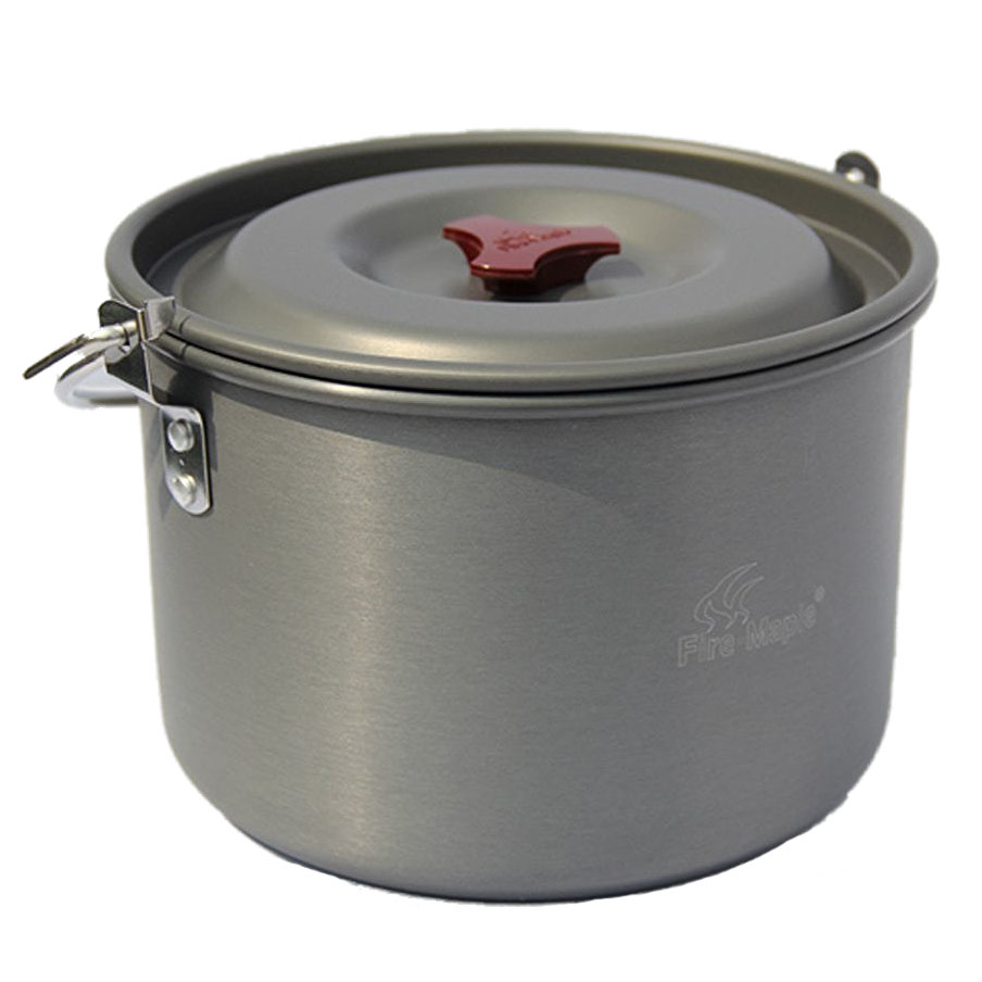 5l outdoor hanging pot cooking aluminum for 4 5 people for Cuisine aluminium
