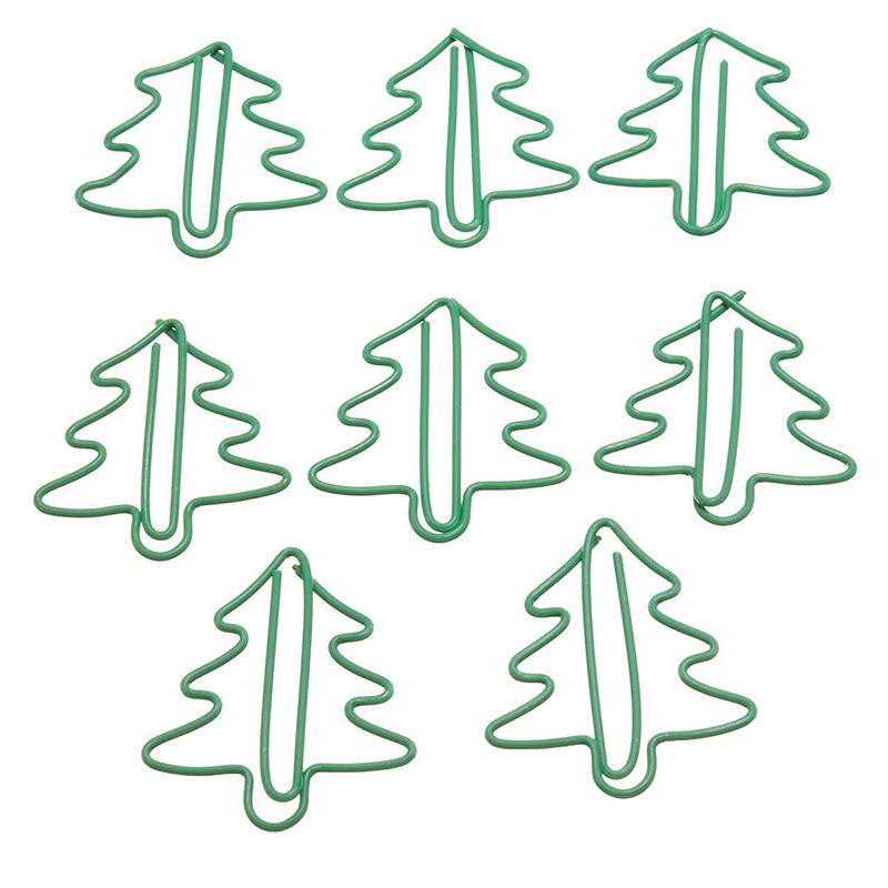 Bueroklammern 24 Stueck in PVC-Etui Weihnachtsbaum O9B3