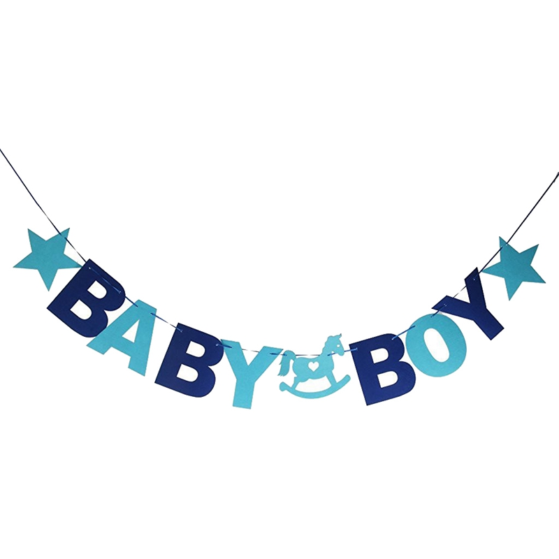 baby boy bunting festoon banner baby shower party decoration n4n5