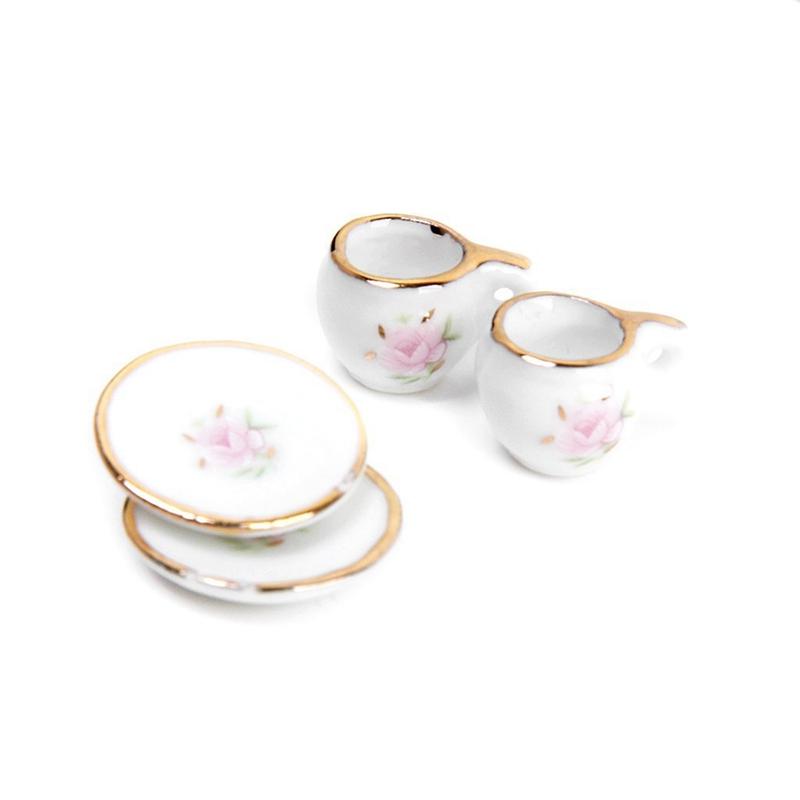 Puppenstuben & -häuser 8 Stk Puppenhaus Miniatur Restaurants Ware Porzellan Tee Set Teller Tasse N6R2