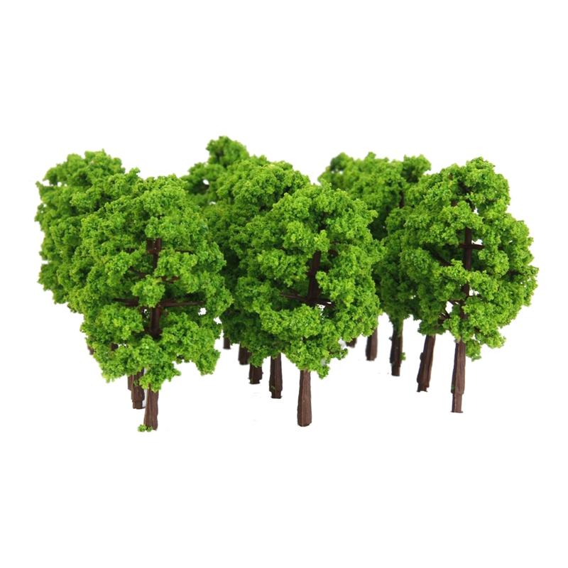 Kunststoff Modell Baum Zug Eisenbahn Landschaft 1 100 20 Stk Dunkelgruen U3O3