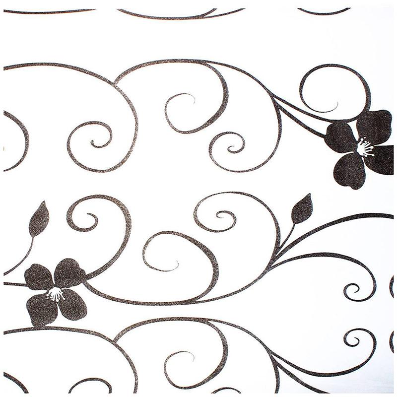 40x100cm sichtschutzfolie milchglasfolie fenster folie blume deko selbstkle v7r9 ebay. Black Bedroom Furniture Sets. Home Design Ideas