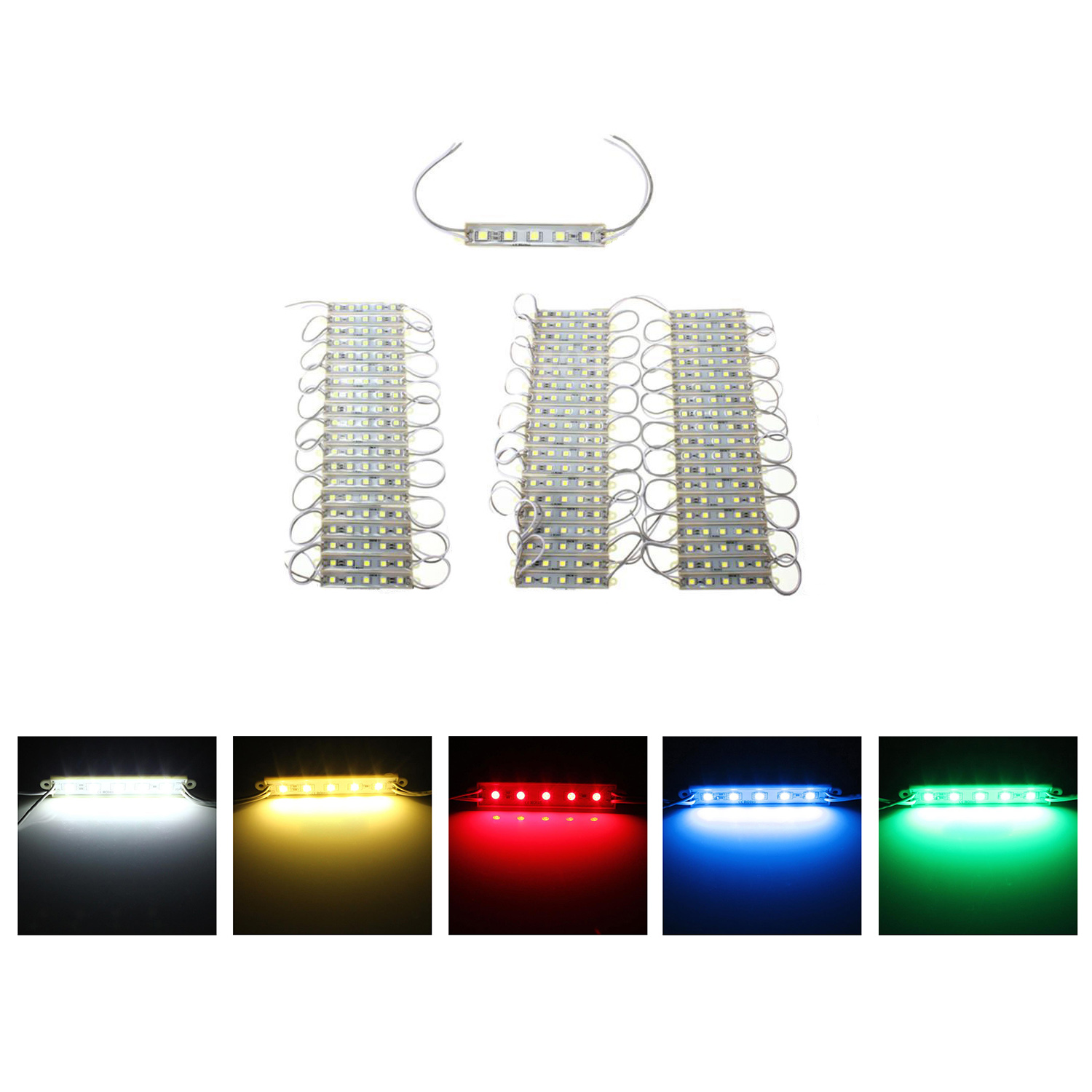5050 led module 5 smd strip streifen wasserdicht leiste band lampe dc 12v a1 ebay. Black Bedroom Furniture Sets. Home Design Ideas