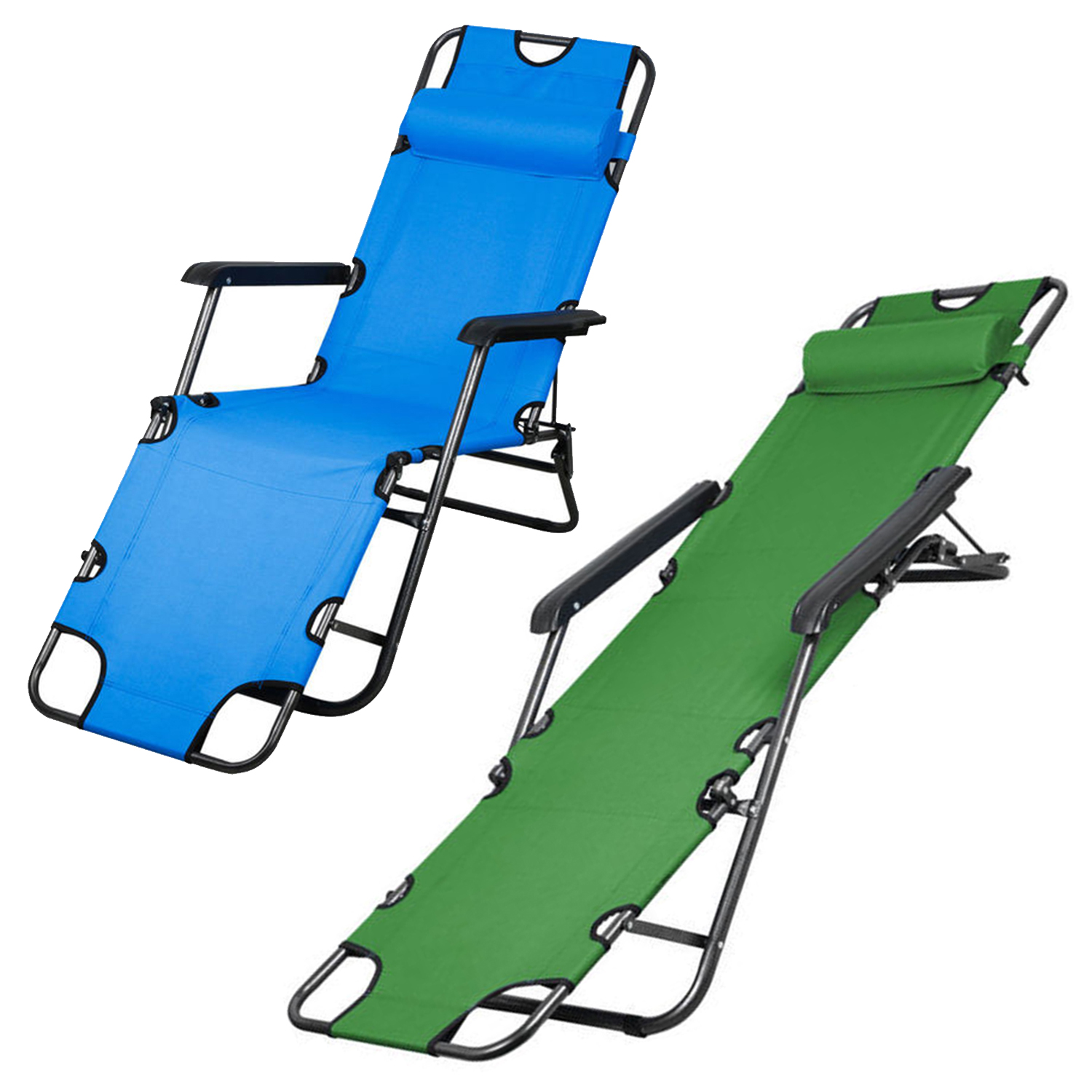 100 brand new foldable recliner with metal frame great for use in the garden patio pool side office beach or for camping sunbathing etc - Outdoor Recliner Chair