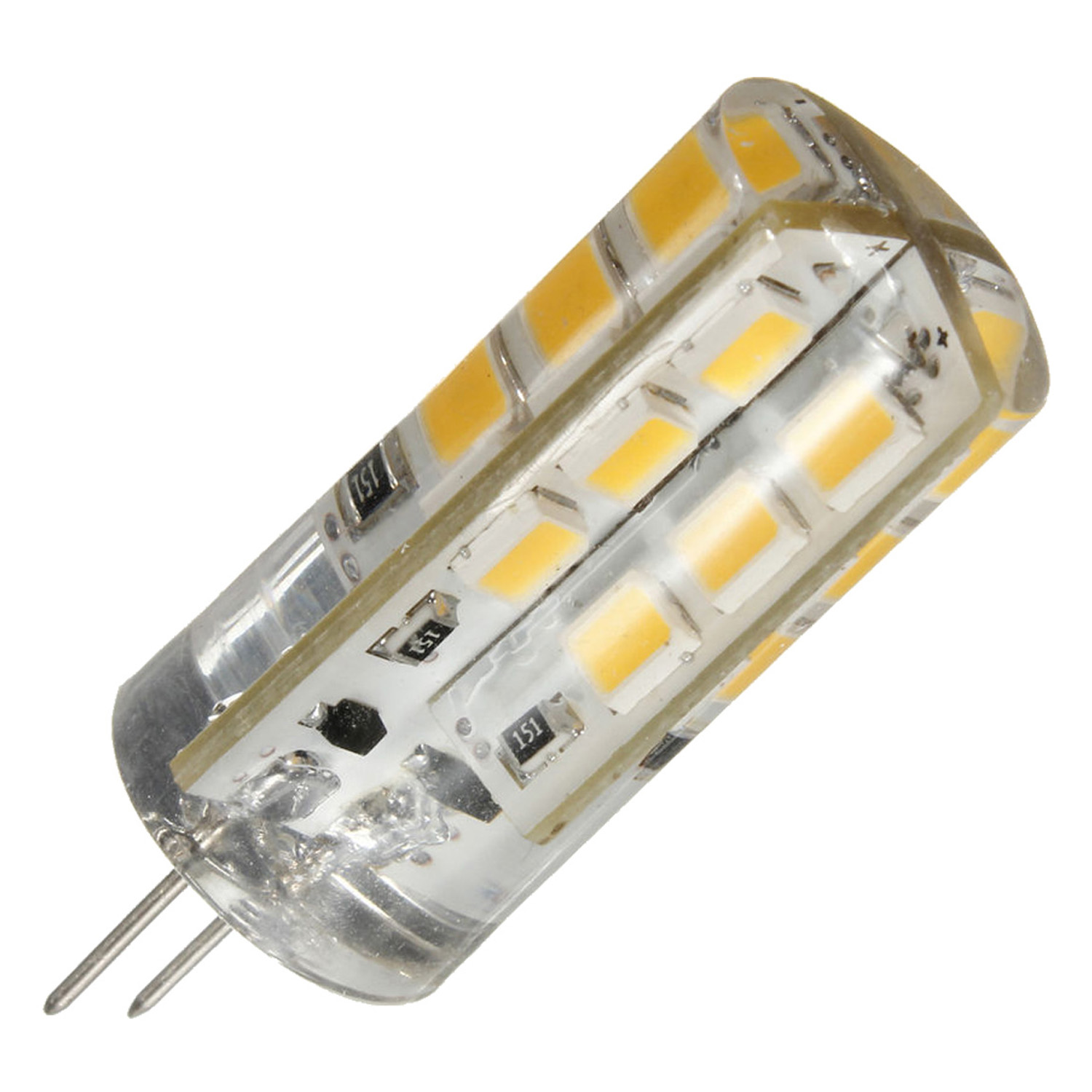 5x g4 3w 2835smd 24 led light silicone capsule replace halogen bulb light 12v pk ebay. Black Bedroom Furniture Sets. Home Design Ideas
