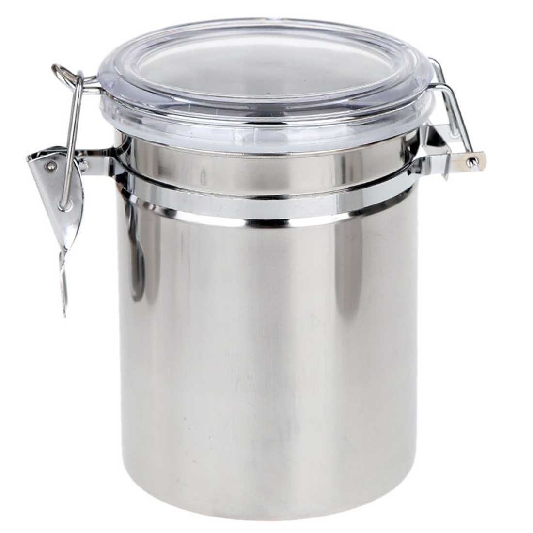 4pcs Stainless Steel Canister Spice Storage Jar Set