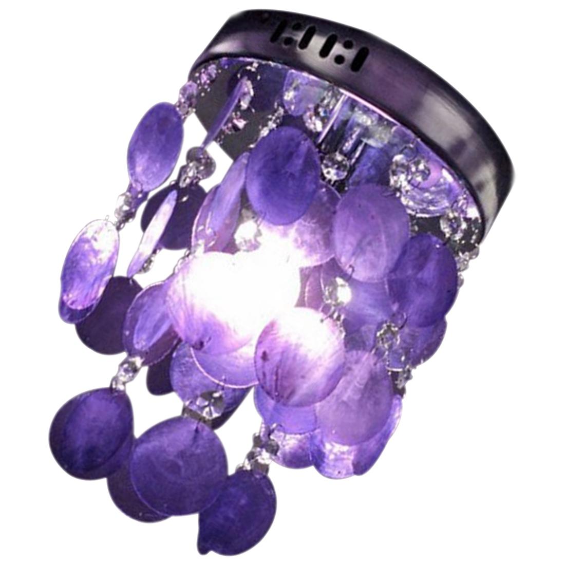 child bedroom purple crystal shell pendant lamp chandelier. Black Bedroom Furniture Sets. Home Design Ideas