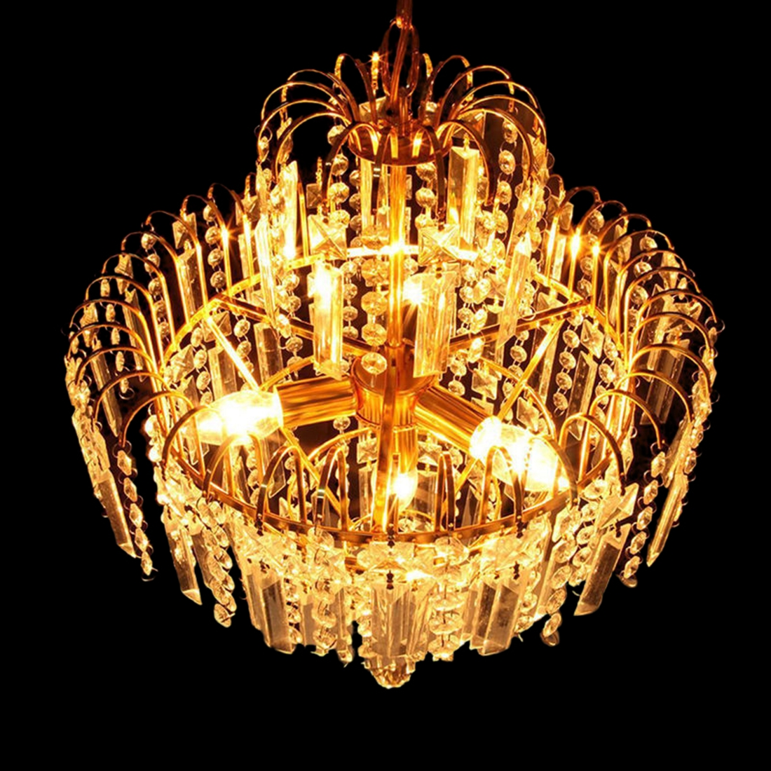 Big crystal chandelier modern ceiling light lamp pendant lighting fixture s ebay - Ceiling crystal chandelier ...