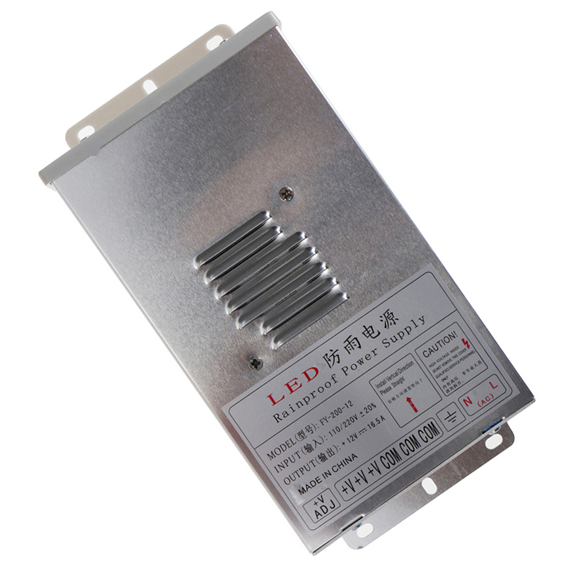 3X In//Outdoor Switching Power Supply Silver, FY-200-12 12V 16.5A 200W P5S2