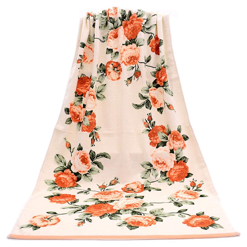 Floral Pattern Cotton Bath Towels For Adults Beach Towel Bath Towels Bathroom F6 Ebay