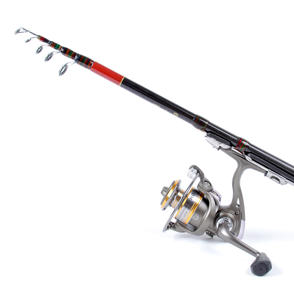 Generic 1.8M Telescopic Fishing Rod Outdoor Spinning Lure ...