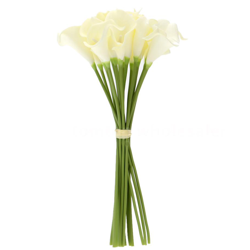 SS 18x Artificial Calla Lily Flowers Single Long Stem ...