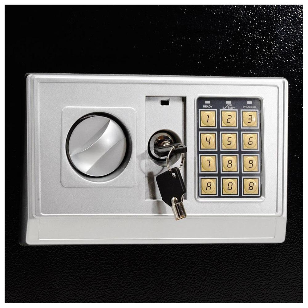 large digital electronic safe box keypad lock security home office hotel x1j3. Black Bedroom Furniture Sets. Home Design Ideas