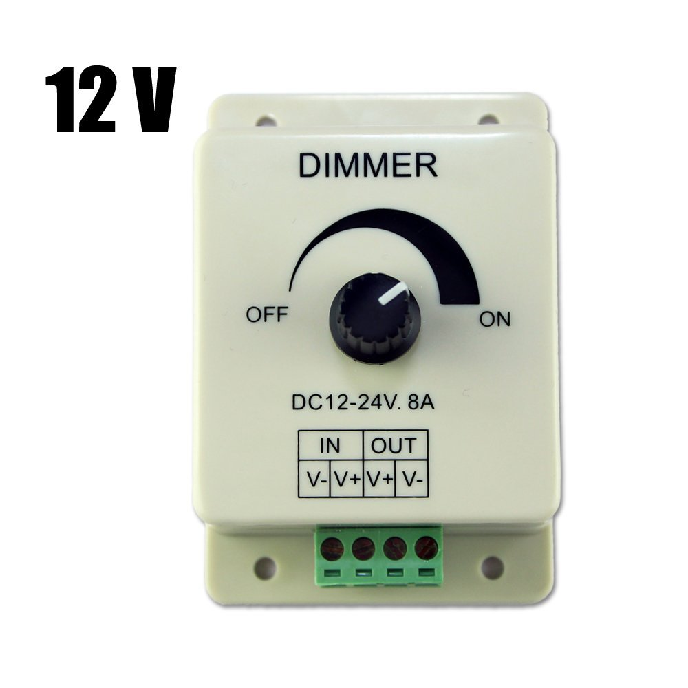 dc 12v 8a light dimmer brightness adjustable control for. Black Bedroom Furniture Sets. Home Design Ideas