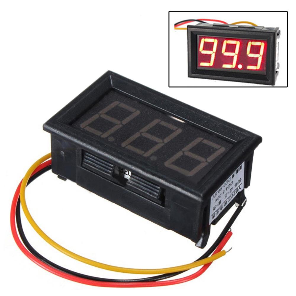 Commercial Electric Volt Meters : Dc wire led digital display panel volt meter voltage