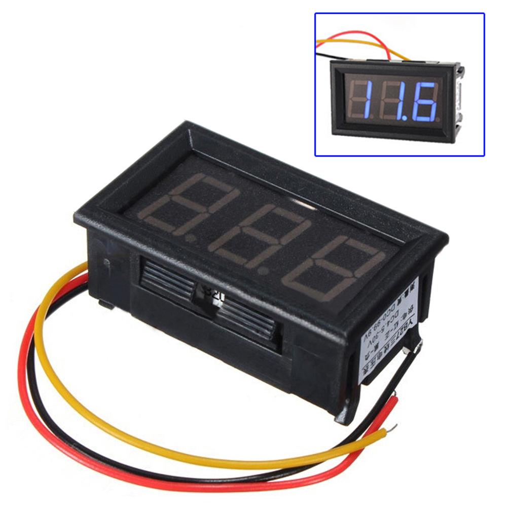 Digital To Voltage : Dc wire led digital display panel volt meter voltage