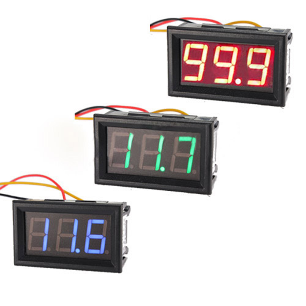 Dc Voltage Digital Panel Meters : Dc wire led digital display panel volt meter voltage