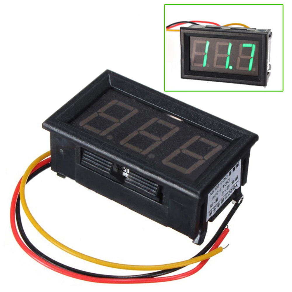 Dc Digital Volt Meter : Dc wire led digital display panel volt meter voltage