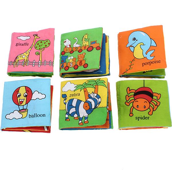 Children S Fabric Book Cover : Fabric baby children intelligence development squeaky