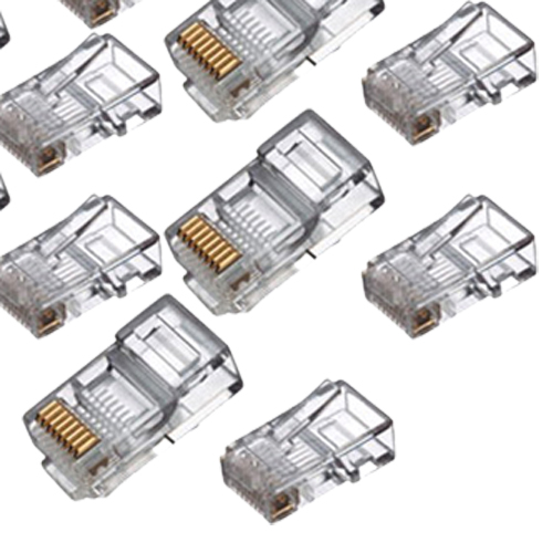 rj45 connector network cable cat5 crimp ends plug x 100 lw