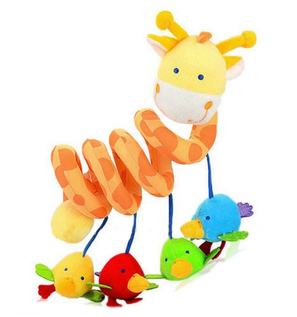 giraffe baby crib activity spiral stroller toy ebay. Black Bedroom Furniture Sets. Home Design Ideas