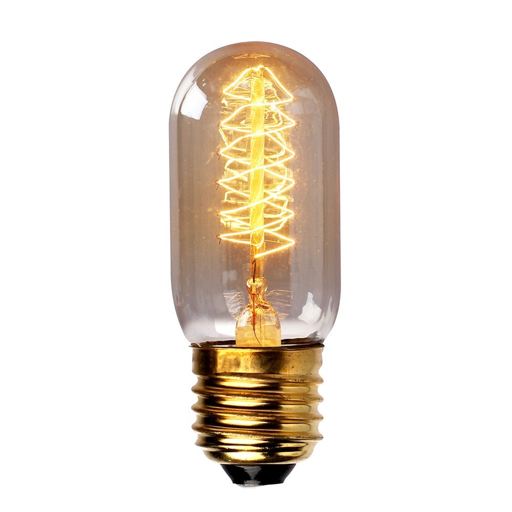 3x Filament Light Bulb Tungsten Light T45 60w 220v Spiral Filament She5 Ebay