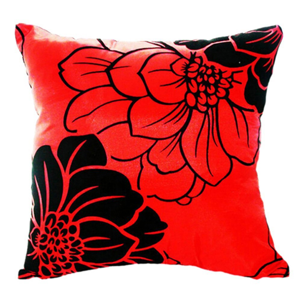 Red Throw Pillows For Bed : Home Sofa Bed Car Square Decorative Throw Pillow Case Cushion Cover (Red) TS eBay