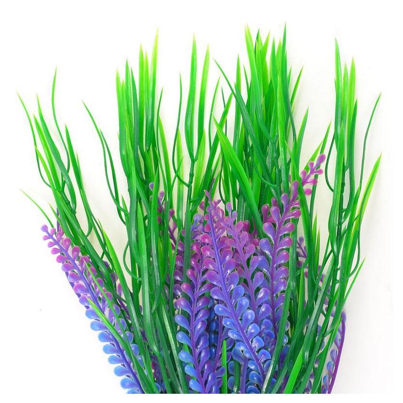 Fish Tank Artificial Water Grass Plants D Or Green Purple Pk Ebay