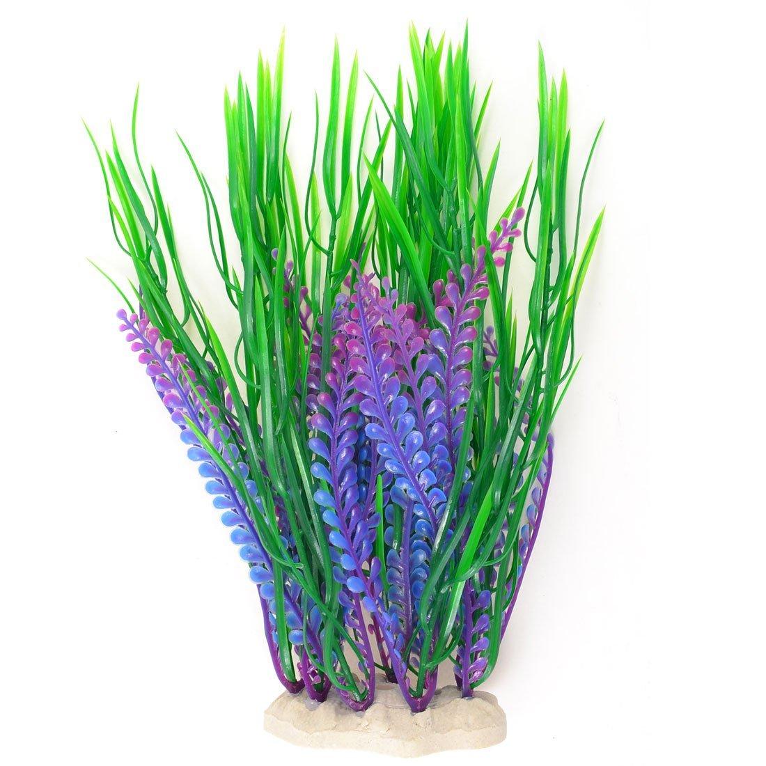 H1 Fish Tank Artificial Water Grass Plants D Cor Green Purple Y7h1 Ebay