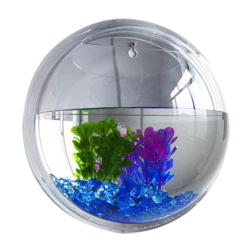 Reservoir de poisson murale bubble bol poisson decoration for Poisson decoration aquarium