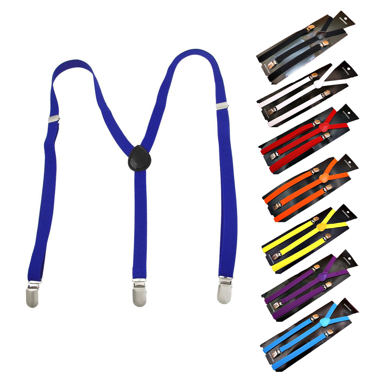 Adult-Adjustable-Metal-Clamp-Elastic-Suspenders-Braces-W7U2
