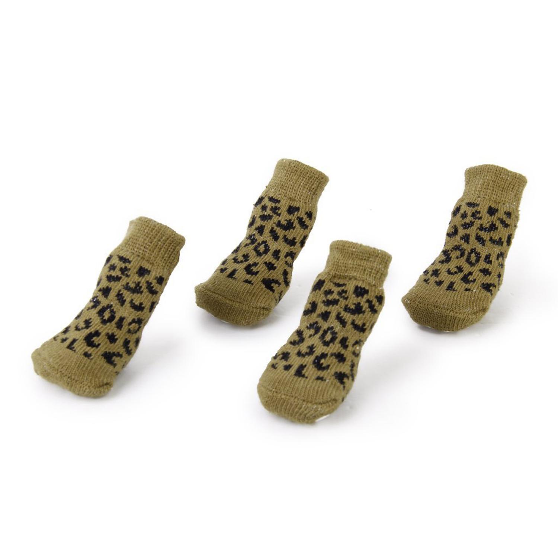 Calcetines antideslizantes de proteccion de pata del gato perrito ...