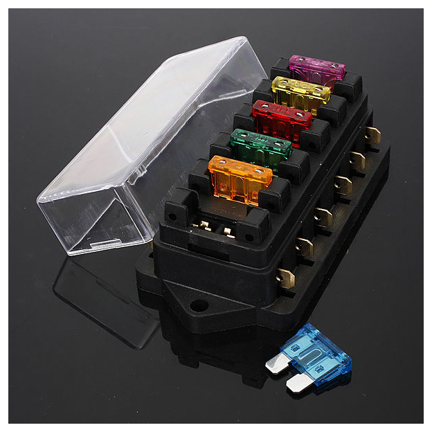 6 way fuse holder box car vehicle circuit blade fuse box block home fuse box note light shooting and different displays may cause the color of the item in the picture a little different from the real thing