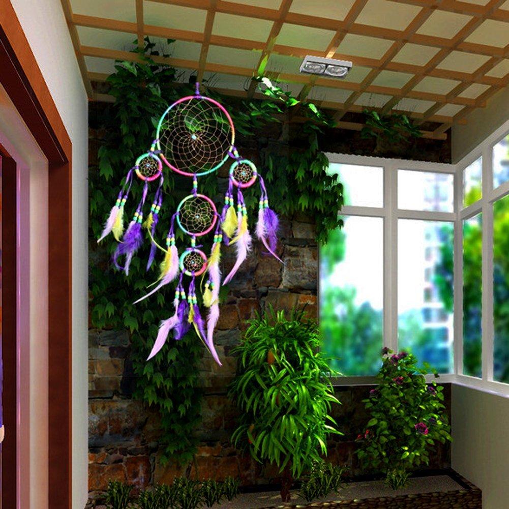 Regenbogen wand haengende dekoration perlenverzierung for Regenbogen dekoration