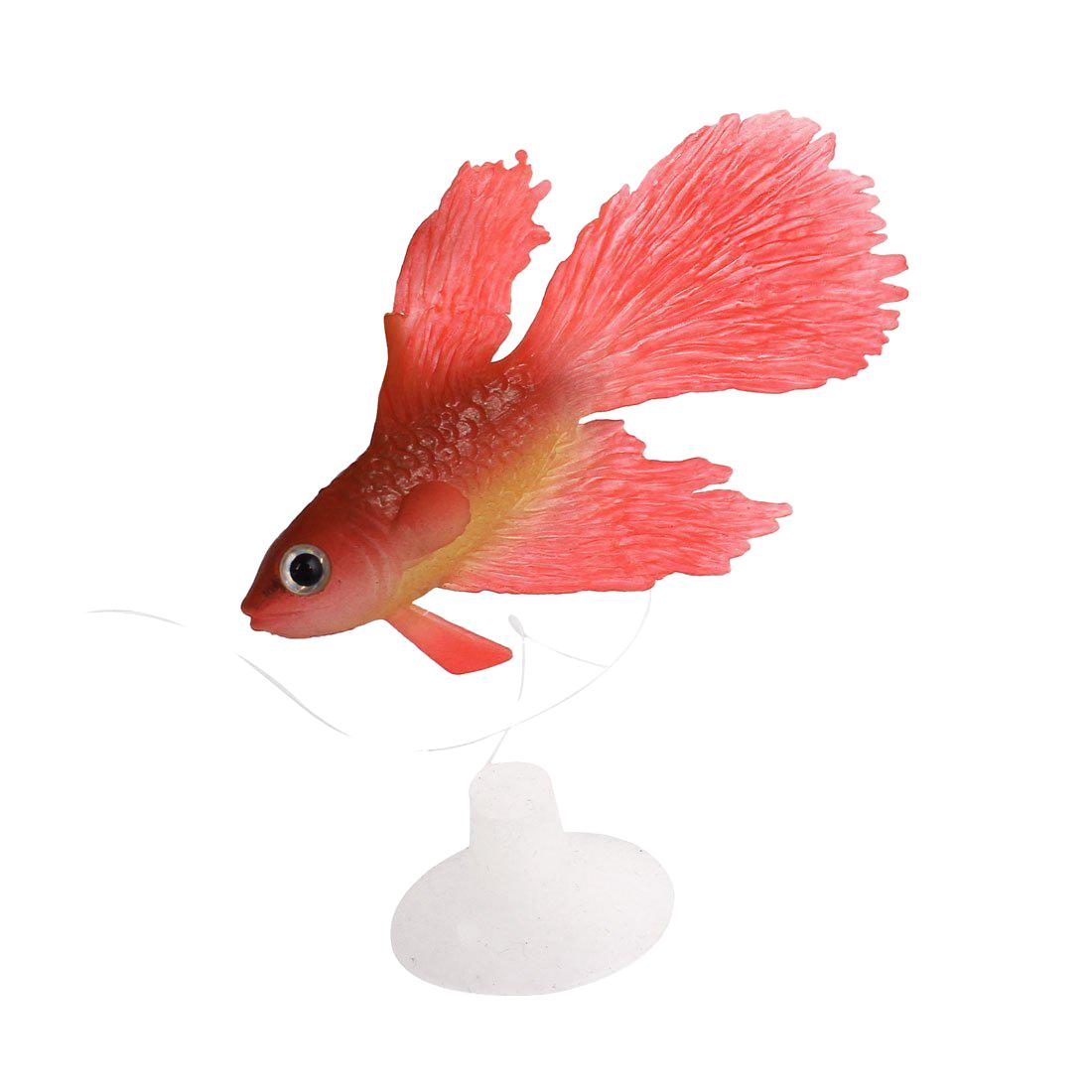 Silicone aquarium ventouse poisson artificiel ornement rouge a3y6 ebay - Poisson a ventouse ...