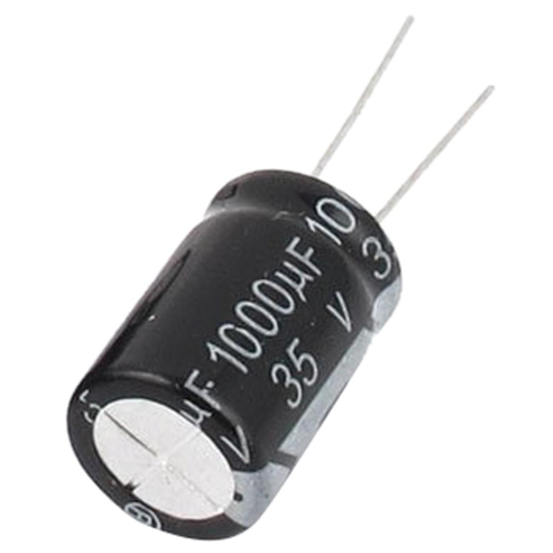 10 Pcs 35V 1000uF 105C Radial Lead Electrolytic Capacitor 13mm x 20mm X6Y2