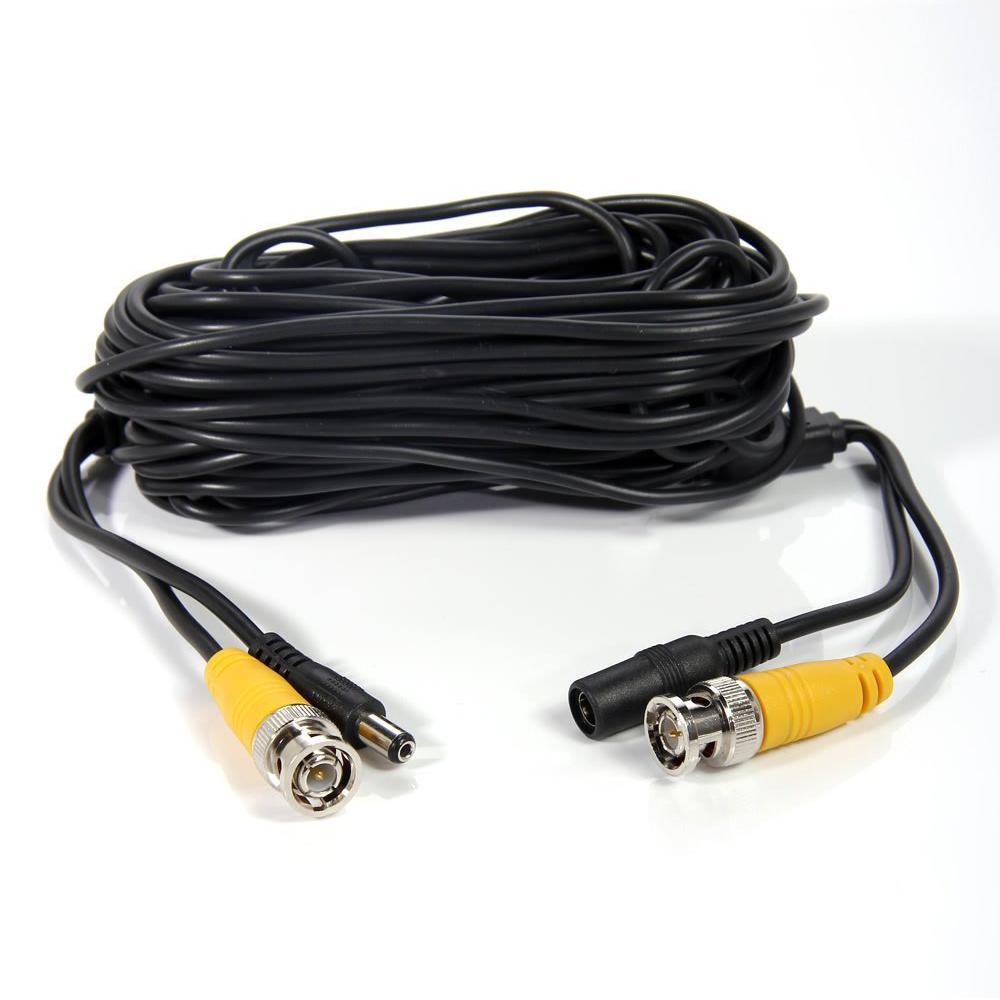 4-Pack 50 Ft Video Stromkabel BNC usb Kabel Draht fuer DVR Video ...