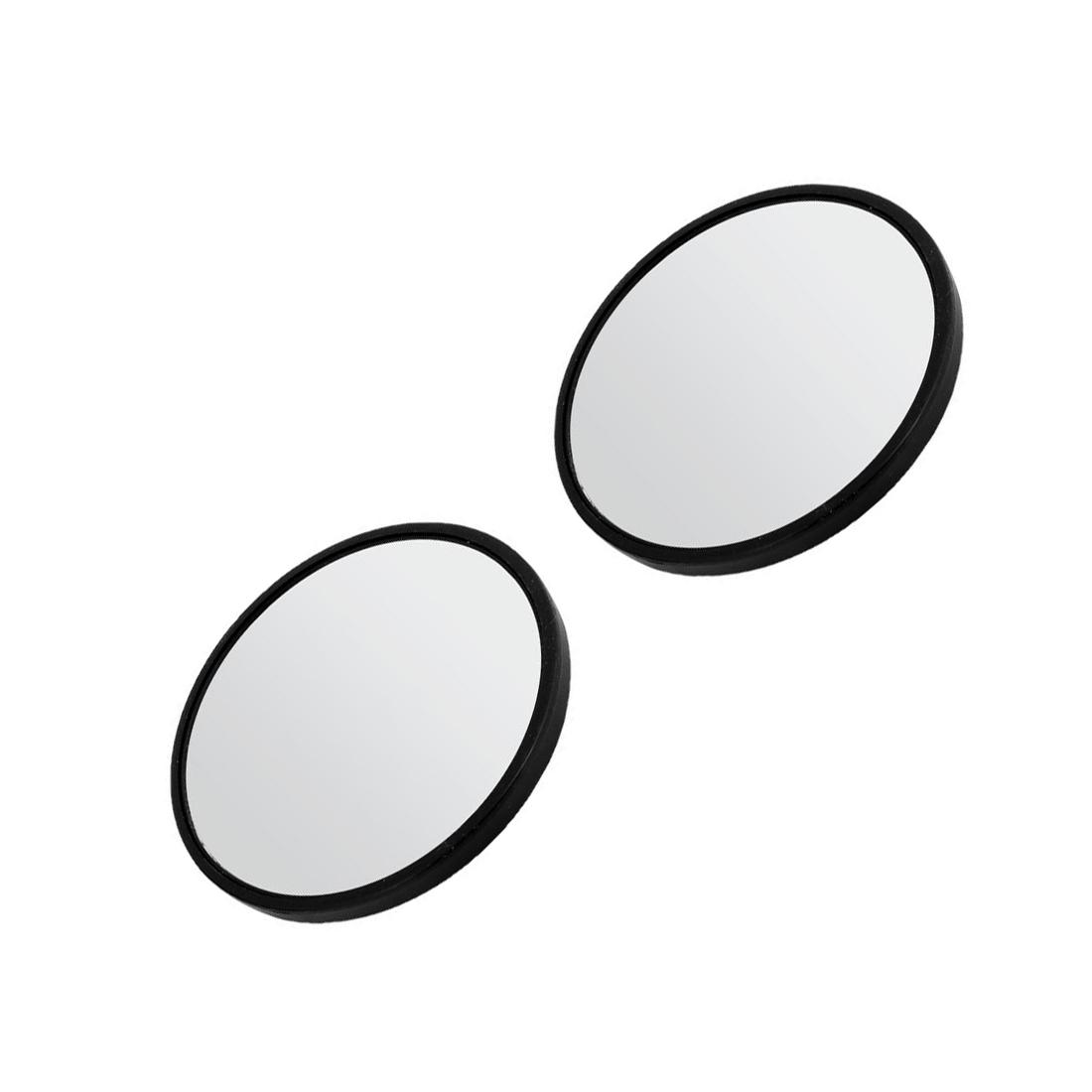 6x 2 durchmesser schwarzer rahmen welspiegel rueckspiegel fuer auto ebay. Black Bedroom Furniture Sets. Home Design Ideas