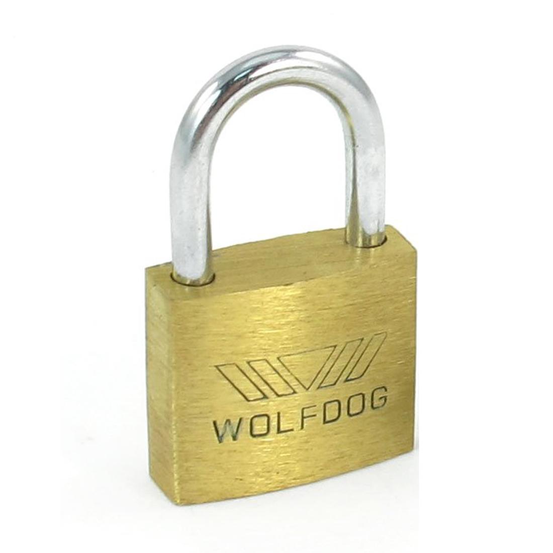 5x WOLFDOG Mini Size Security 20mm Width Door Lock Brass Padlock with 3 Keys N3