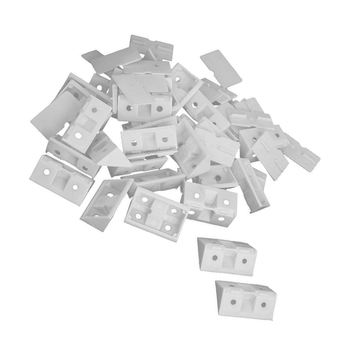 30pcs Shelf Cabinet 90 Degree Plastic Corner Braces Angle Brackets ...