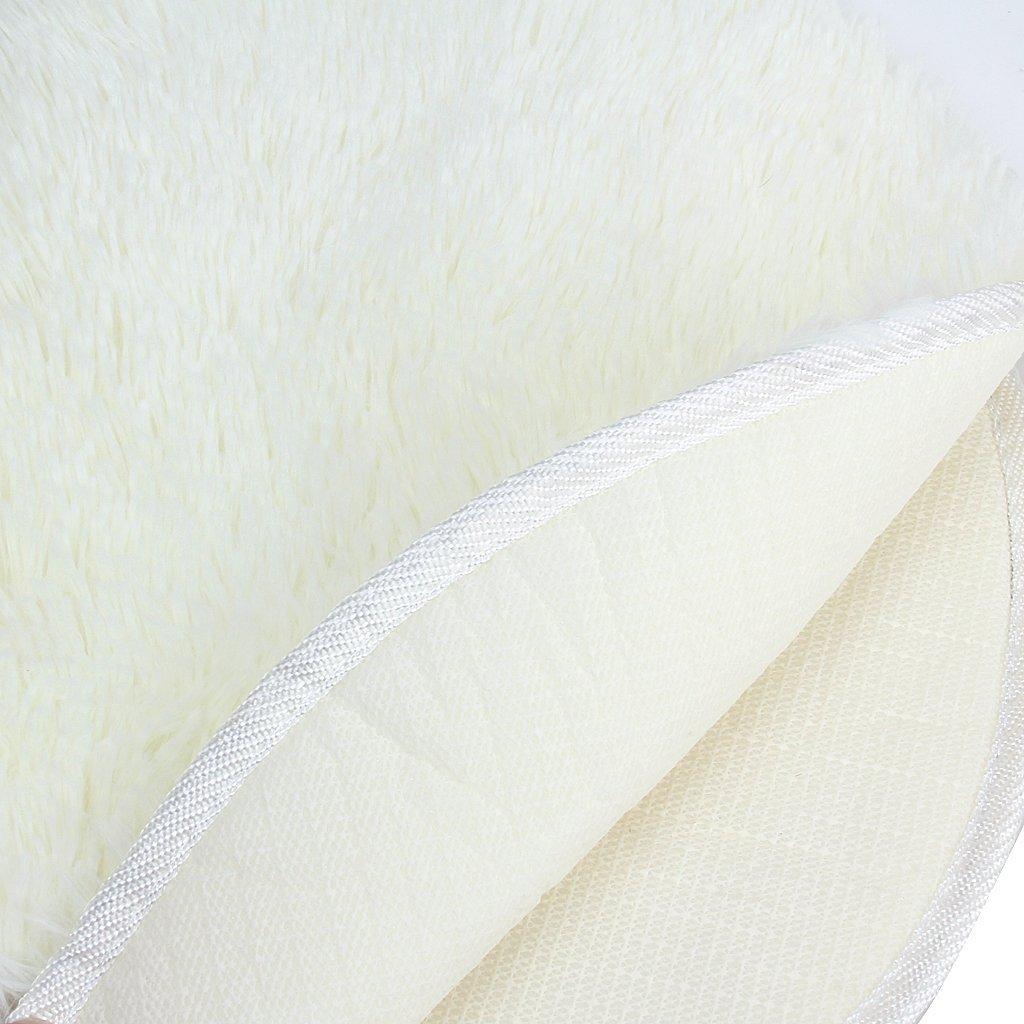 Herz Design Flauschigen Teppich Matte Schlafzimmer (Beige) GY