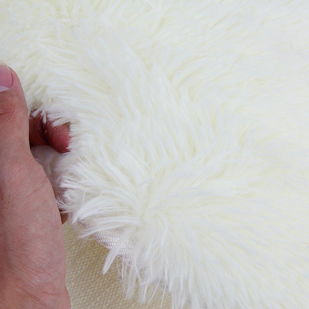 2X(Herz Design Flauschigen Teppich Matte Schlafzimmer