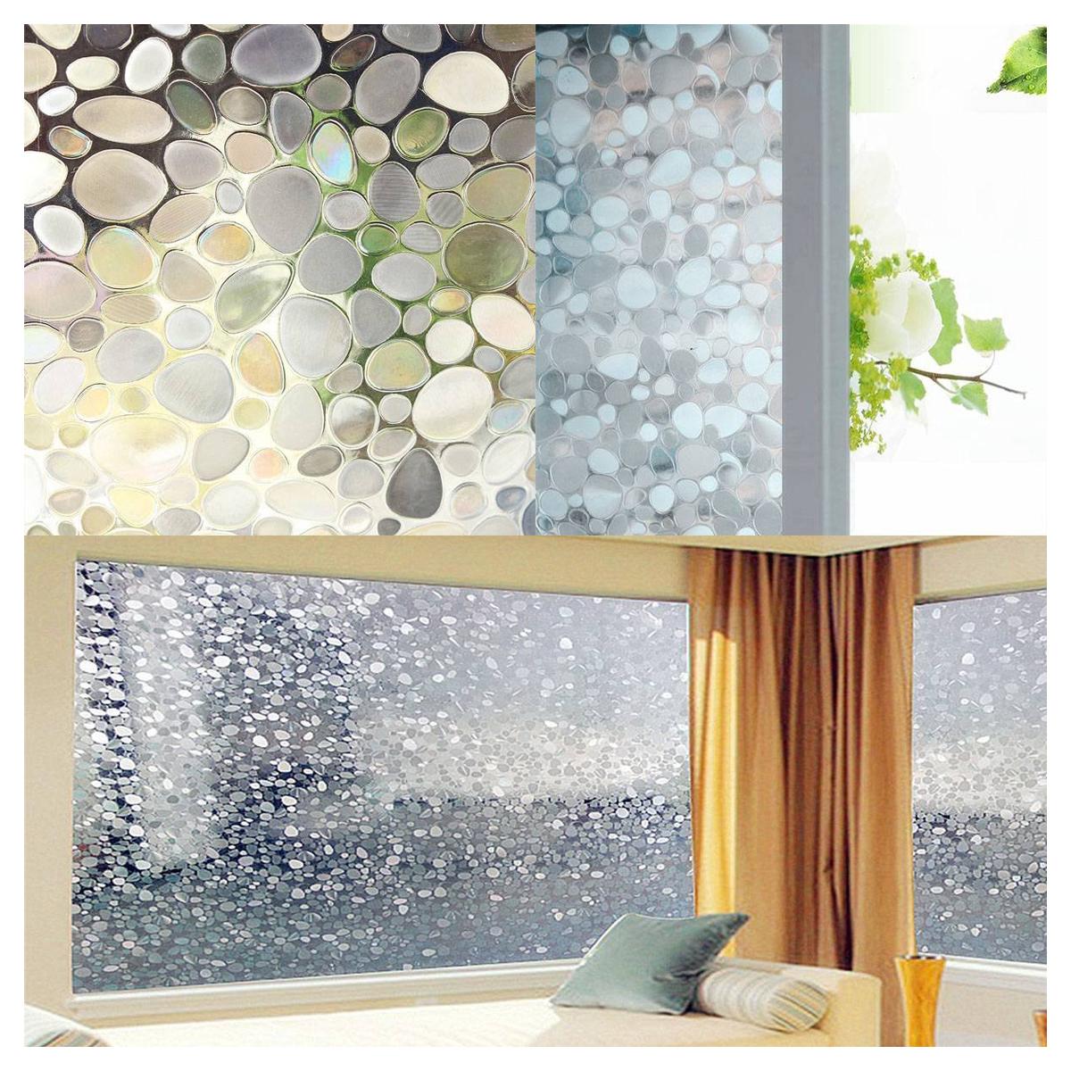 100cm kieselsteine sichtschutzfolie milchglasfolie fenster. Black Bedroom Furniture Sets. Home Design Ideas