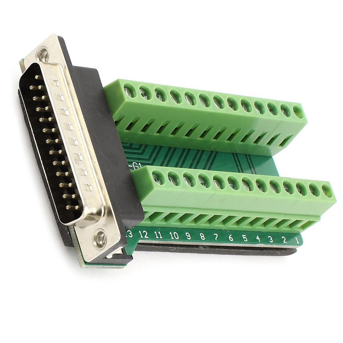 DB25 25-Pin Stecker Anschlussplatine RS232 Seriell zu Klemme Signal ...