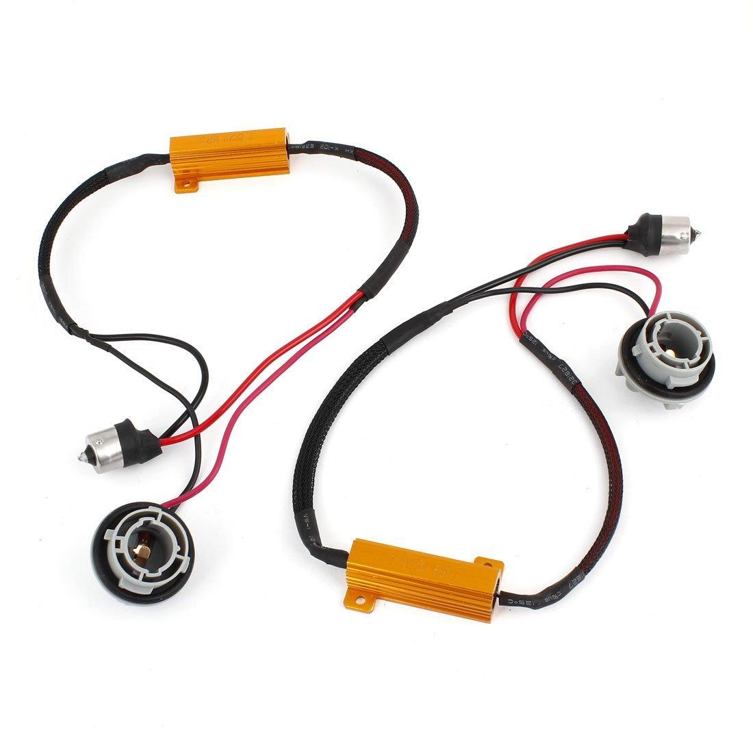 2 Pcs 1156 Led Light Canbus 50w 8ohm Load Resistor