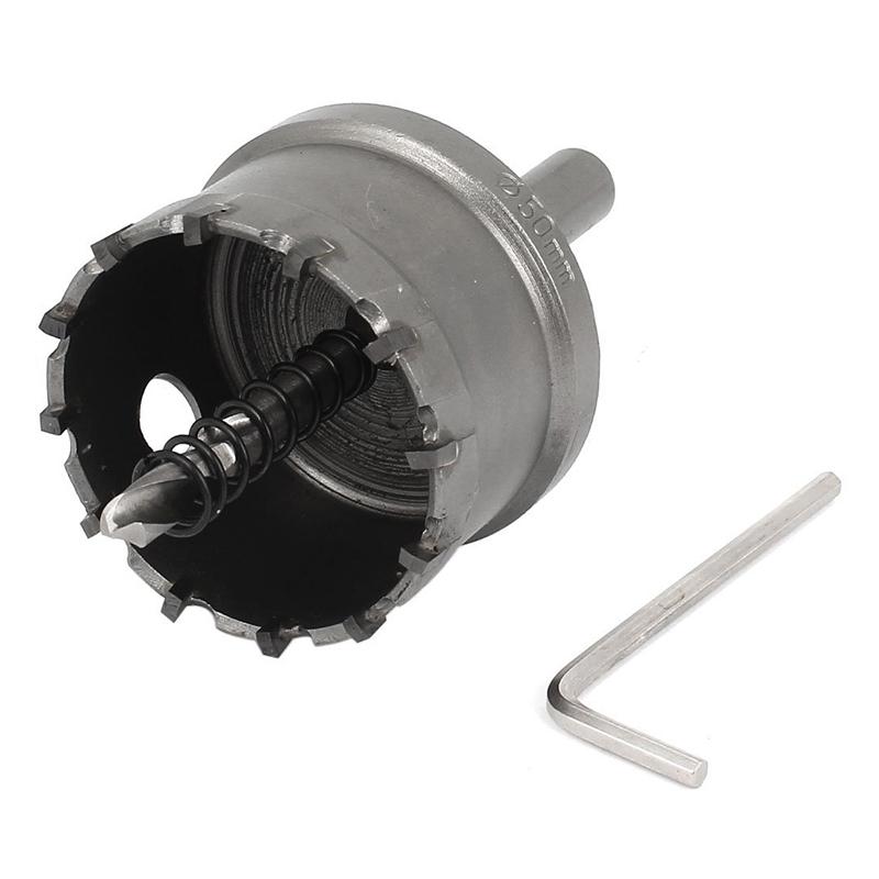 50mm durchmesser karbid spitze lochsaege bohrer fuer legierung edelstahl g8q2 ebay. Black Bedroom Furniture Sets. Home Design Ideas