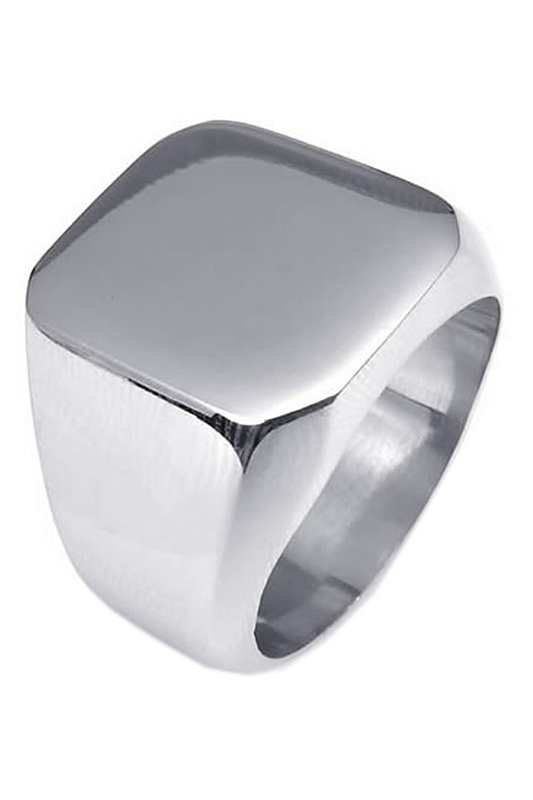 2X-Jewelry-Men-039-s-Ring-Stainless-Steel-Seal-Ring-Silver-12-TD thumbnail 5